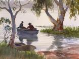 Redclaw Fishermen, Lake Elphinstone, Qld